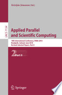 Applied Parallel And Scientific Computing