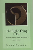 The Right Thing to Do Book
