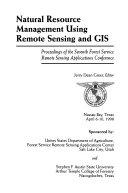 Natural Resource Management Using Remote Sensing and GIS