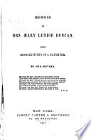 Memoir of Mrs  Mary Lundie Duncan