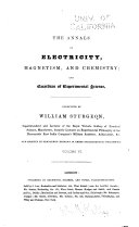 The Annals of Electricity  Magnetism  and Chemistry  and Guardian of Experimental Science Book