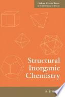 Structural Inorganic Chemistry Book