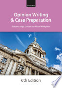Opinion Writing And Case Preparation