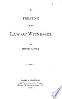 A Treatise on the Law of Witnesses