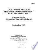 Light water Reactor Research and Development Book