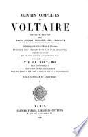 Œuvres complètes de Voltaire: Études et documents biographiques. 1883
