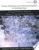 Theory  Modeling  and Field Investigation in Hydrogeology