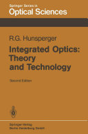 Pdf Integrated Optics: Theory and Technology Telecharger