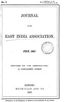 Journal of the East India Association