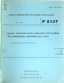 Public Administration Series  Bibliography