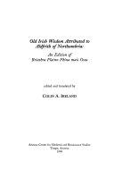 Old Irish Wisdom Attributed to Aldfrith of Northumbria