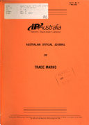 Australian Official Journal Of Trade Marks Book PDF