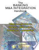 The Banking M A Integration Handbook Book