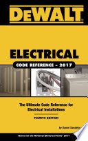 Dewalt Electrical Code Reference Based On The 2017 Nec