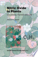 Nitric Oxide in Plants Book