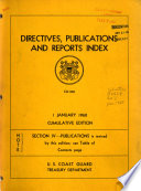 Directives, Publications and Reports Index