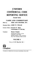 Pdf Uniform Commercial Code Reporting Service, Second Series