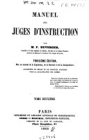 Manuel des juges d'instruction