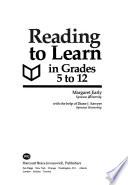 Reading to Learn in Grades 5 to 12