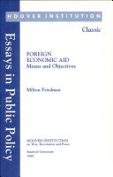 Foreign Economic Aid  Means and Objectives