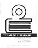 Proceedings of the MARC II Seminar