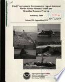 Marine Mammal Health and Stranding Response Program