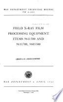 Field X-ray Film Processing Equipment