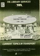 Electric Vehicles  1988 1993