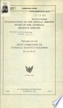 Investigation of the Special Service Staff of the Internal Revenue Service  June 5  1975 Book