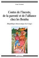 Pdf Contes de l'inceste, de la parenté et de l'alliance chez les Bemba (RDC) Telecharger