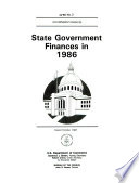 State Government Finances in ...
