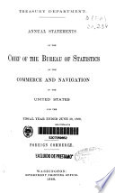 Annual Statements of the Chief of the Bureau of Statistics on the Commerce and Navigation of the United States for the Fiscal Year Ended June 30, 1880