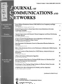 Journal of Communications and Networks