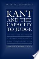 Kant and the Capacity to Judge
