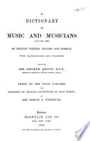A Dictionary of Music and Musicians  A D  1450 1880  by Eminent Writers  English and Foreign Book