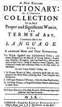 A new English dictionary ... The third edition, carefully revised ... By J. K. [i.e. John Kersey.]