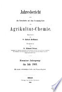 Jahresbericht über die Fortschritte auf dem Gesamtgebiet der Agrikultur-Chemie. 20.1877(1878)