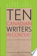 Ten Canadian Writers in Context Book