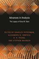 Advances in Analysis: The Legacy of Elias M. Stein