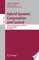 Hybrid Systems  Computation and Control