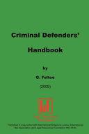 Criminal Defender's Handbook