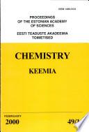 Proceedings of the Estonian Academy of Sciences, Chemistry