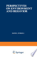 Perspectives on Environment and Behavior