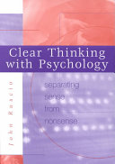 Clear Thinking with Psychology Book PDF