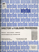 Directory of Published Proceedings Book