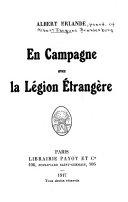 En campagne avec la Légion étrangère