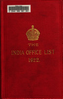 The India Office List