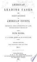 American Leading Cases Book PDF
