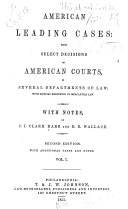 American Leading Cases