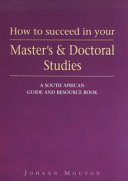 Free How to Succeed in Your Master's and Doctoral Studies Book